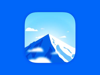 Damavand App Icon app icon peak damavand landscape blue ios iphone mobile mountain icon app