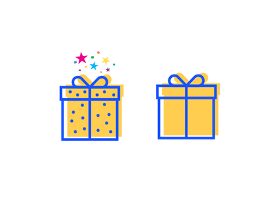 Special Gift vs. Ordinary Gift's icon work in progress icon-set icon set simple set outline lines line icon