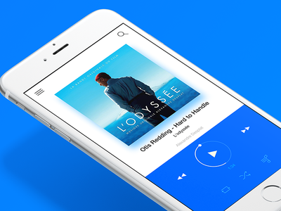 Music Player App Concept music player ios inspiration blue music concept player ios app