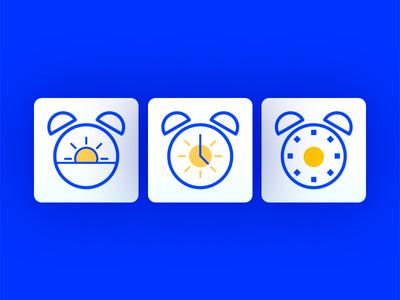 Alarm App Icon  alarm icon app icon simple minimal blue alarm app