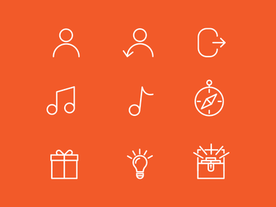 Icon Set for Game App outline icons icon-set icon set ios icons simple set lines line outline icon