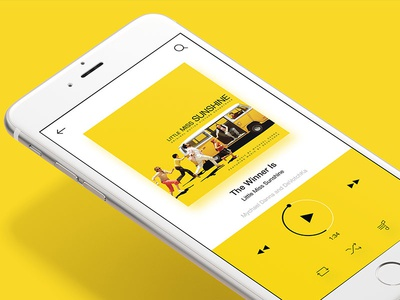 Music Player App Concept simpleui music player ios inspiration ios player concept yellow app player music concept