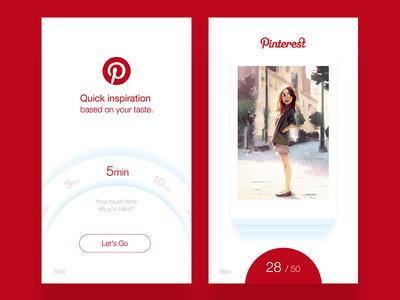Quick Inspiration Pinterest Concept quick inspiration exposure explore browse ios concept card inspiration pinterest