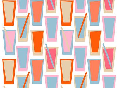 Cocktails pattern cool fresh alcohol drink cocktail patternmaking surfacedesign patterndesign pattern design flat illustration