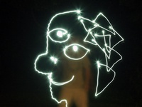 Picasso style light painting