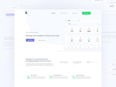 Landing page - projects management platform web ux ui designer project management homepage landing page website