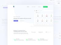 Landing page - projects management platform