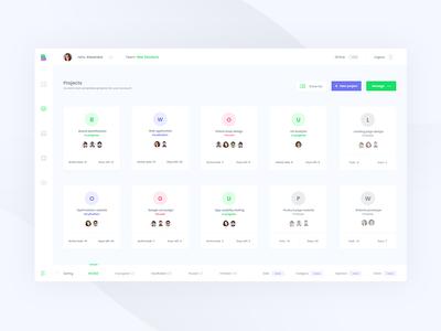 Projects management interface platform ux ui communication projects management design interface