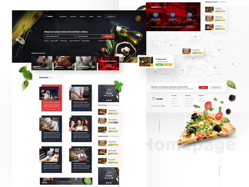 Foodie - Restaurant catalog 🍽 food restaurant homepage ux ui designer design interface web