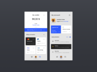 #3 Transport mobile app - wallet & profile 🚕🌞 concept figma light ios iphone app taxi designer interface design ux ui
