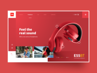 #2 UI Screen practice concept style white red headphones devices jbl figma web designer interface design ux ui