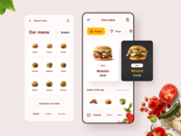 Food Online App 🍔 online food hamburger vegetables order food app mobile app designer design ux ui