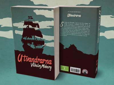 Book Cover Design - The Emigrants negative space digital design cover art book cover design photoshop adobe book pocket