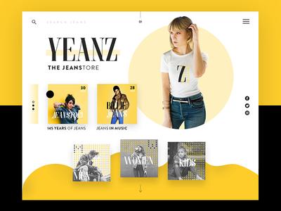 Jeans Store Ui Design Concept design concept e commerce ui design fashion jeans ux ui