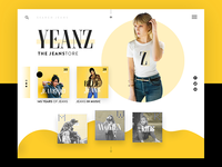 Jeans Store Ui Design Concept