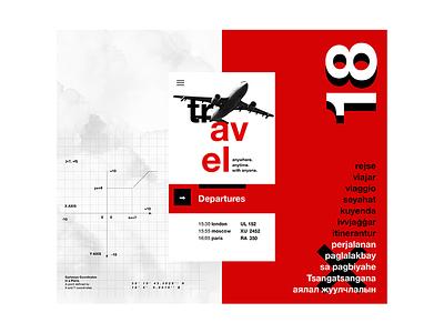 Swiss Art - Flight site UI design ui design swiss art traveling flight geometric swiss helvetica