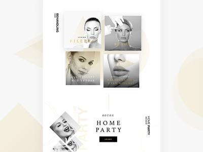 Beauty Salon - Website Design ui design esthetics grayscale geometry salon beauty luxurious