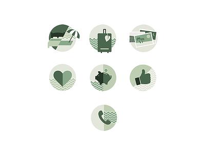 ECO Travel Agency Icons sustainable travel green illustrations icons tourism travel eco