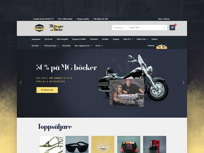 Motorcycle Online Store - By Dreamify Design ui design e commerce online store webdesign biker shop mc motorcycle motorbike