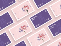Peony Business Cards by Dreamify Design