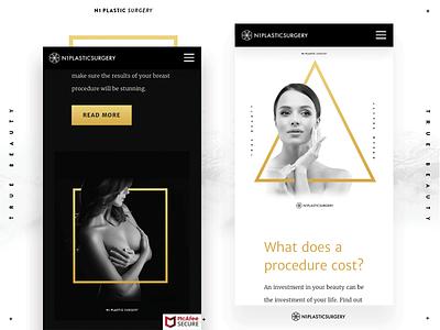 Website for Esthetic Clinic website gold clinic esthetic ui design