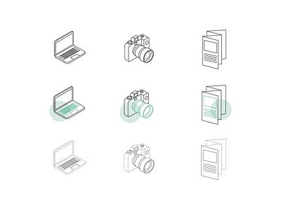 Icons Lineart Style ui design minimalistic iconography line art icons