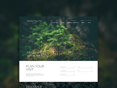 Montalto Estate Concept tourism nature concept web debut