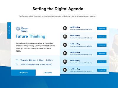 Featured Event – V2 list events web design digital