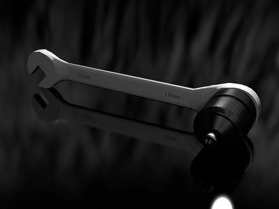 Wrench - 3D Test metal wrench bump render uv model 3d