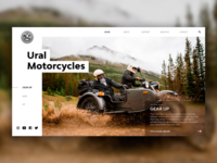 Ural motorcycles concept of homepage