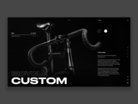 Bicycle custom concept website