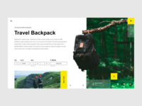 Concept website Travel backpack