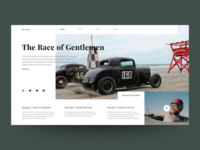 Concept website Hot Rods