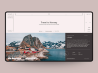 Concept website Travel to Norway.