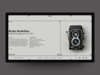 Concept website Camera.