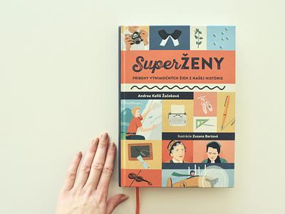 SuperŽENY / book indesign photoshop typography design illustration