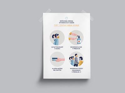 Corona measures leaflet design leaflet design procreate graphicdesign icons typography indesign illustration layout
