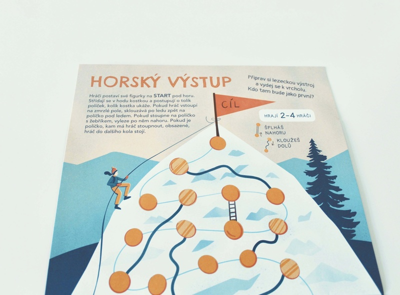 Mountain climbing climbing childrens illustration board game illustration
