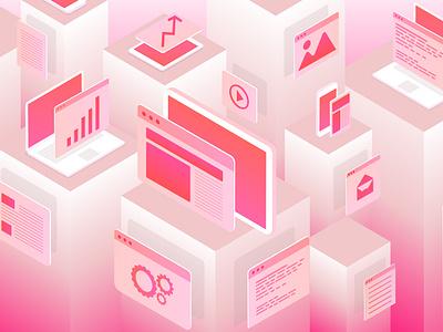Illustration Background dribbble vector web illustration design
