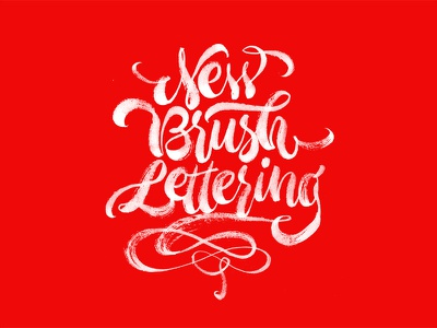 NEW new calligraphy brush letters lettering