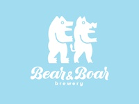 Logodesign for Bear&Boar Brewery.