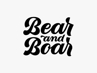 Logodesign for Bear&Boar Brewery beer logo lettering logodesign