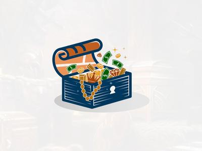 Backup zwallow treasure map + box amazing logo