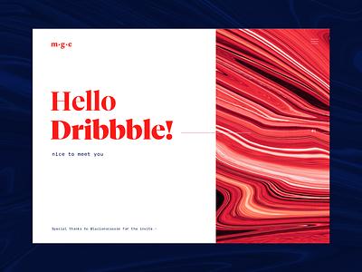 Hello dribbble! ui hello world hello dribble firstshot debut