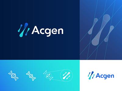 ACGEN - Branding ux scientific analytical data genetics columbia university indicius design logo branding