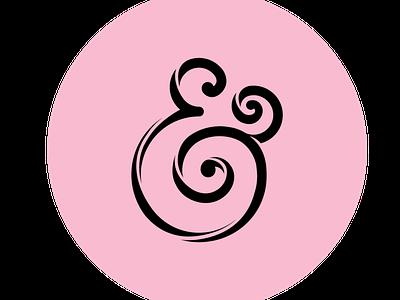 InclusiveKind Ampersand design typography communication word masculine feminine graphic logo designer logo design icon pink branding brand logo symbol and ampersand ampersands