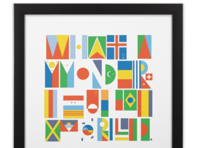What a Wonderful World II color language continents world flags world cup travel countries nations international america pride equality icon design illustration typography world unity country flags