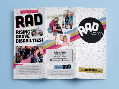 RAD Camp Brochure information graphics print design layout graphic deisgn brochure design brochure camp rad rad camp