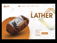 Premium bags landing page design