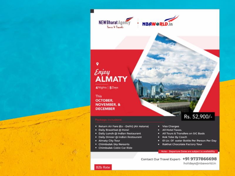 Red and Dark Gray Travel Agency Flyer  by Dhaval Umraliya on